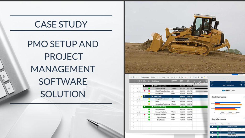 Case Study: A Caterpillar Machinery Reseller brings work automation and business intelligence to their PMO