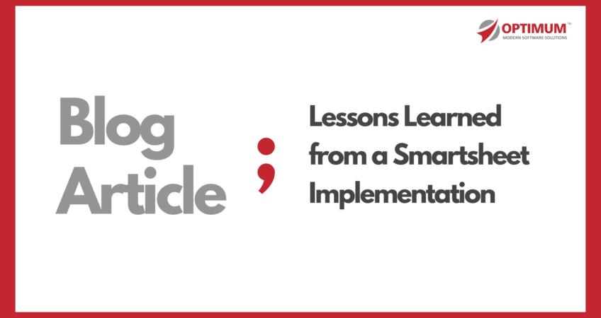 Smartsheet Project Optimum Partner
