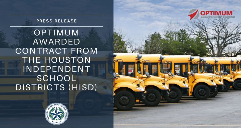 Optimum awarded contract with HISD