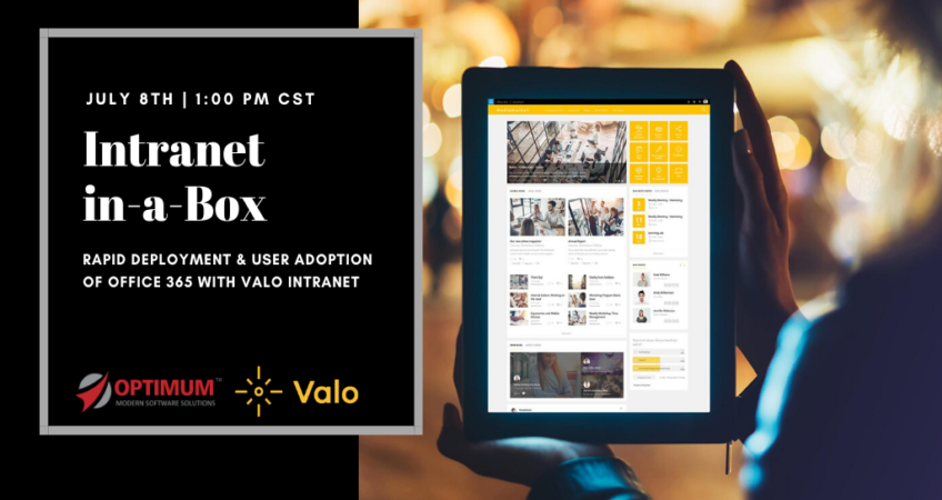 Valo Optimum Office 365 and SharePoint Intranet WEBINAR
